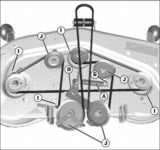 Lawn Mower Wiring Diagram in addition Wiring Diagram For A Craftsman Lawn Tractor furthermore Husqvarna Yth20k46 Deck Diagram further Wiring Diagram For John Deere D140 besides 48 Craftsman Mower Deck Diagram. on craftsman riding mower deck belt diagram